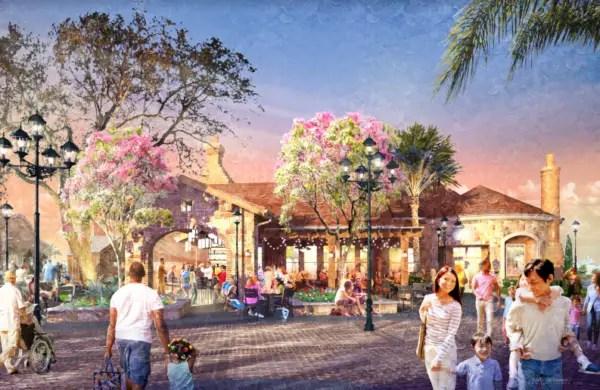 Concept art for new Restaurant to replace Portobello Country Italian Trattoria in Disney Springs 1