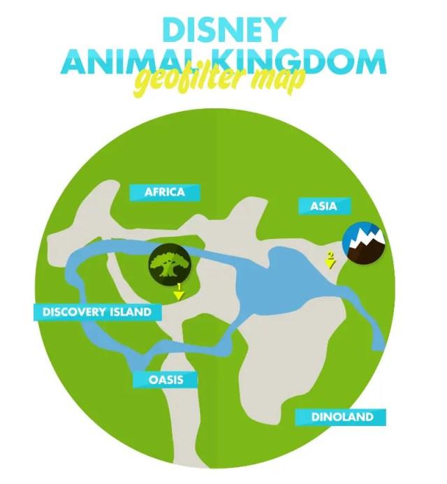 Animal Kingdom GeoFilter Map