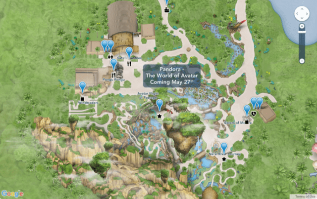 Disney Has Updated Its Online Maps to Include Pandora - The World Of Avatar 1
