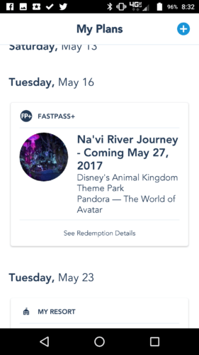 Pandora Passholder Preview Reservation Added to My Disney Experience 1
