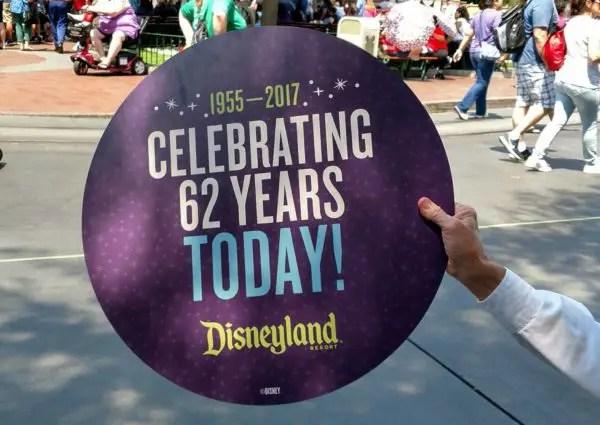 Disneyland's 62nd Birthday Celebration Today at 12:20pm (PDT) 2