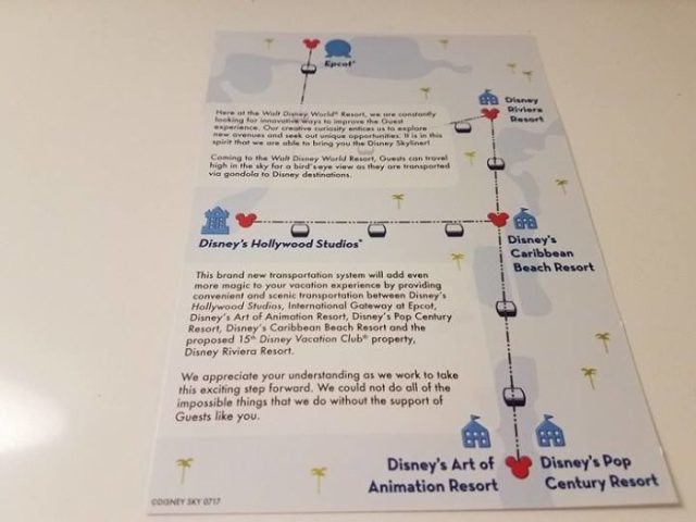Pamphlets Advertising Disney Skyliner Being Distributed To Select Resorts 2