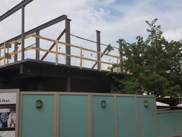Construction Update on Wine Bar George in Disney Springs 1