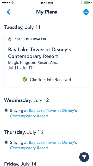 New Online Check-In Feature Available On My Disney Experience App 4