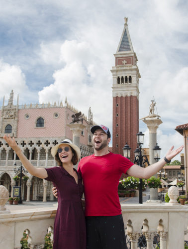 Cobie Smulders and Taran Killam were Recently Spotted Goof-ing Around at Epcot 2