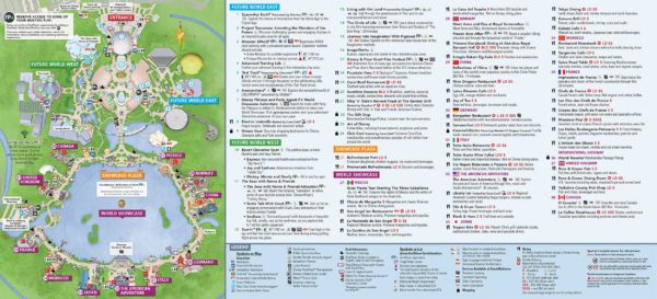 New Park Maps Have Arrived at Epcot After Universe of Energy Closes