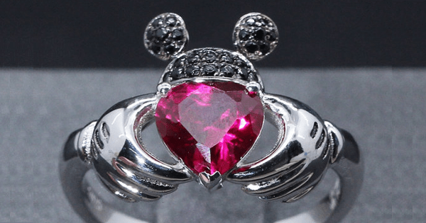 Mickey Mouse Claddagh Ring