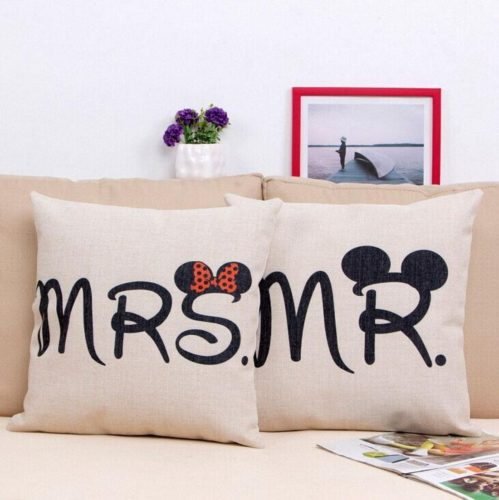 Linen Mr Amp Mrs Mickey And Minnie Pillows For The Home