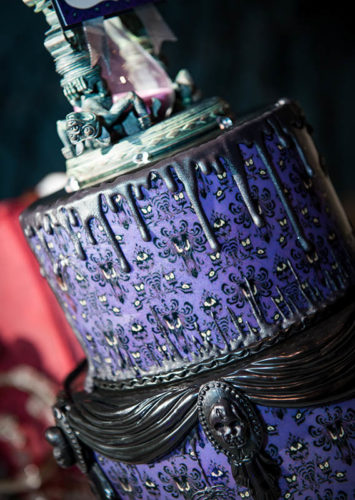 Celebrate With This Haunted Mansion Inspired Wedding Cake 2