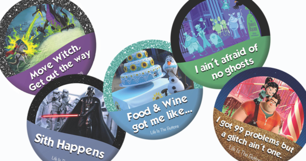 Clever Disney Buttons