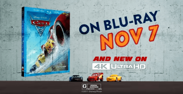 Cars 3 DVD Blu-Ray review