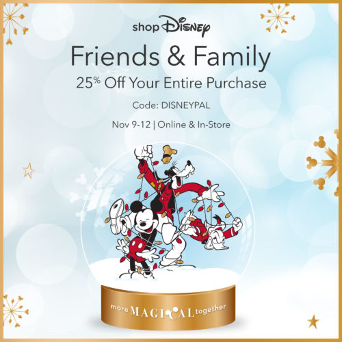 Enjoy 25% off Your Disney Favorites with the shopDisney Friends and Family Offer 1