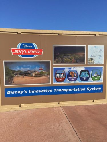 New Skyliner Gondola System Concept Art For Hollywood Studios and Epcot Stations And Logo 2