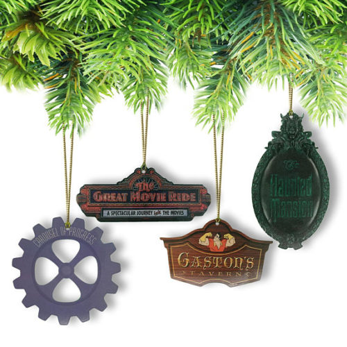 Disney Attractions Christmas Ornaments