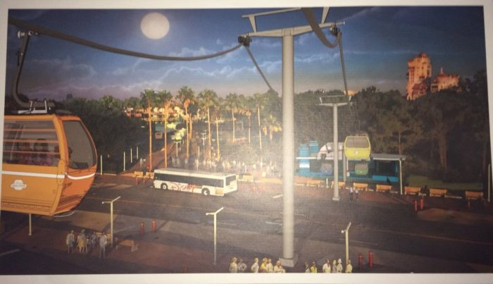 New Skyliner Gondola System Concept Art For Hollywood Studios and Epcot Stations And Logo 5