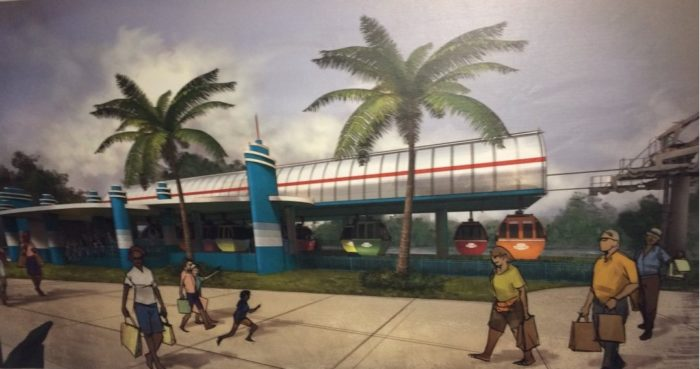 New Skyliner Gondola System Concept Art For Hollywood Studios and Epcot Stations And Logo 4