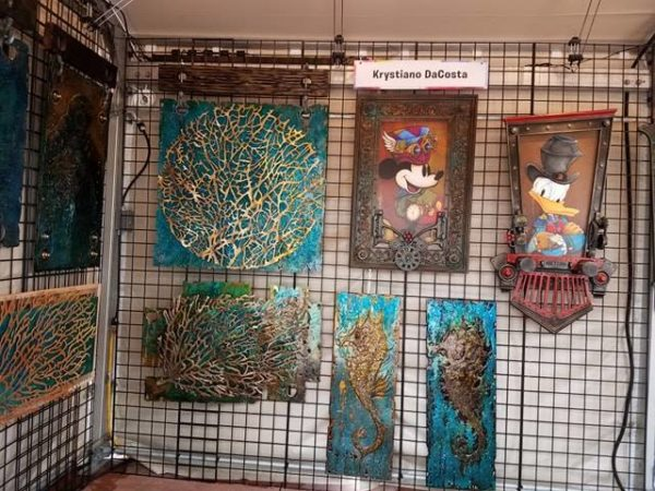 The Art and Decorations of Epcot's International Festival of the Arts 11