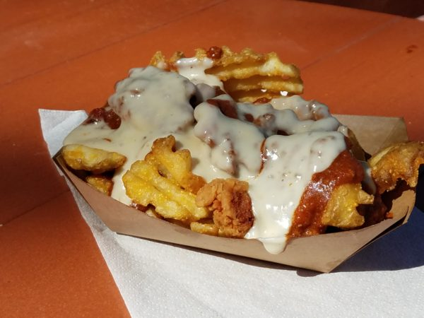 Golden Oak Outpost Chili Queso Waffle Fries Review 1