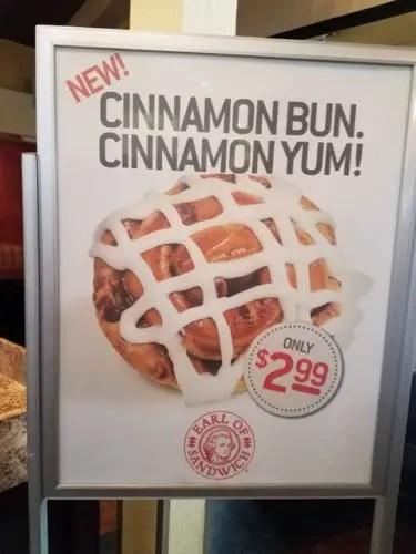 Earl of Sandwich Cinnamon Bun