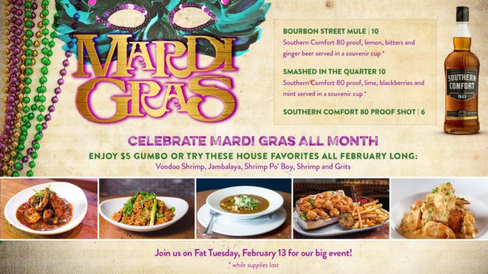 House of Blues at Disney Springs to Offer Mardi Gras Menu Throughout February 2