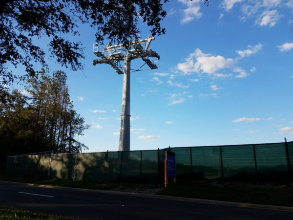 Disney Skyliner Construction Pictures from Pop Century Area 6