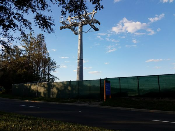 Disney Skyliner Construction Pictures from Pop Century Area 8