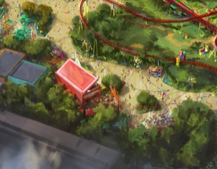 AERIAL PHOTOS: Toy Story Land Construction Update 3