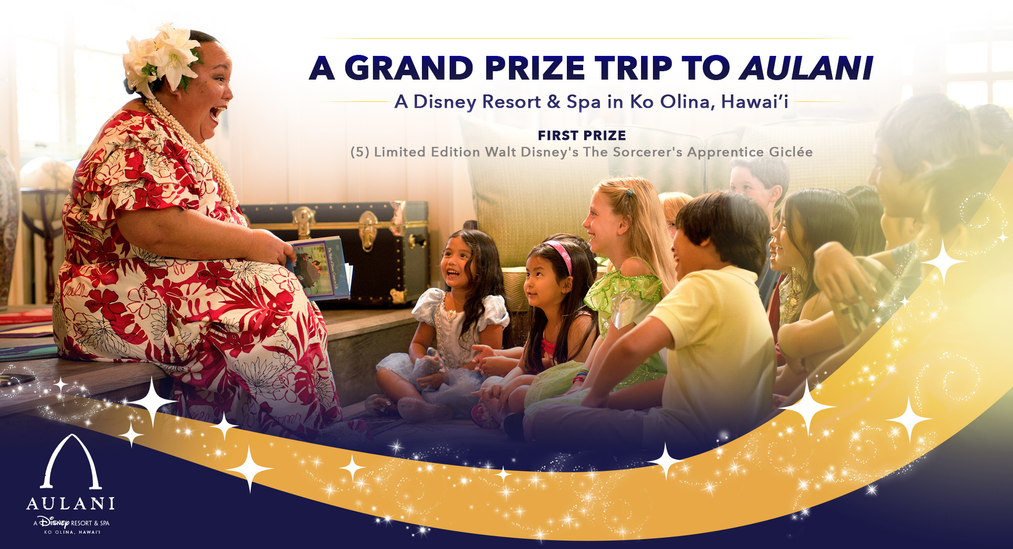 Win a 4 Night Aulani Vacation with Disney's Magic Of Storytelling Campaign 1