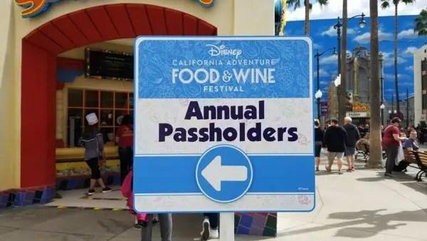 Food and Wine Festival Passholder Area at Disney's California Adventure 1