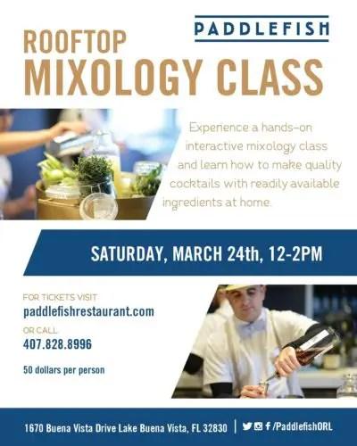 March Mixology class