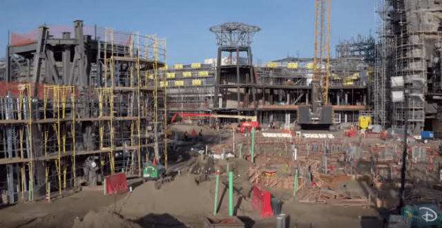 Check out This Video Flyover of How Construction is Progressing at Star Wars: Galaxy's Edge 1
