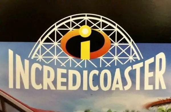 First Look at Disneyland's Incredicoaster Logo 2