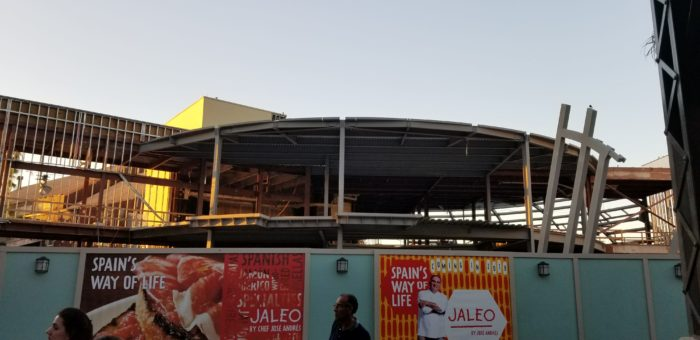 Construction Continues to Progress at Spanish Restaurant Jaleo in Disney Springs 4