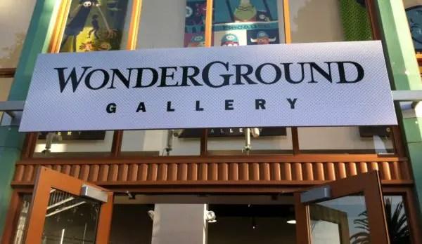 Wonderground art gallery Downtown Disney