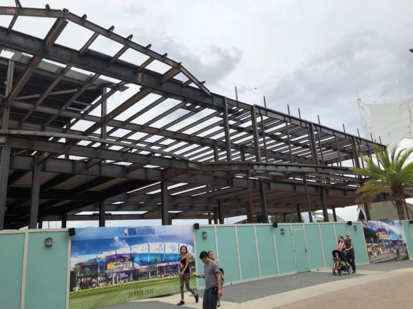 Construction Update in NBA Experience Coming to Disney Springs 2
