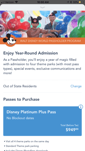My Disney Experience App Now Allows Annual Pass Purchases 3