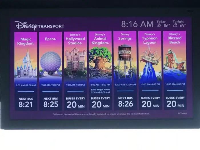 New Monitors at Resort Bus Stops 1