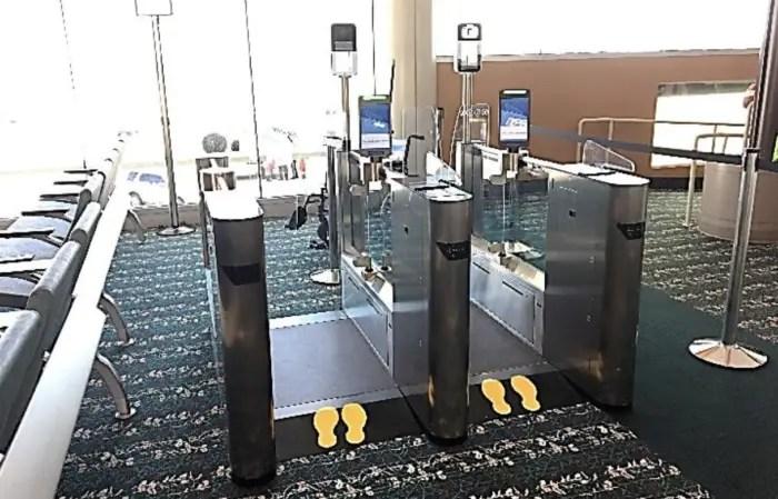 Orlando Airport Biometrics screening