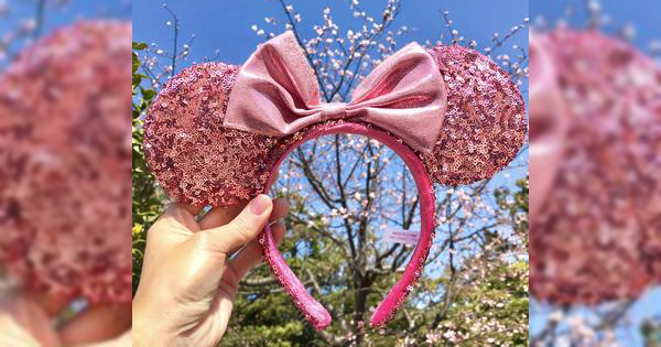 Sakura Sequin Minnie Mouse Ears