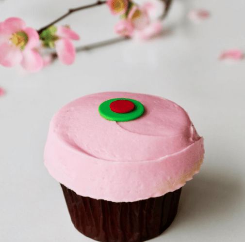 sprinkles summer cherry cupcake