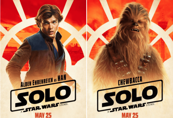"""""""Solo: A Star Wars Story"""" character posters"""