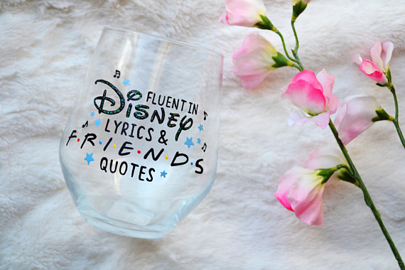 Disney Friends Glass