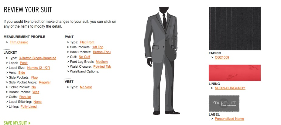 My.Suit Lets You Design Your Own Custom Suit