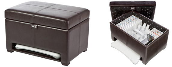 Levelup Wii Storage Ottoman Keeps Your Gaming Gear Neat