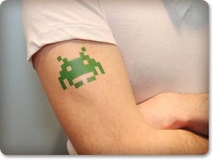 CustomTattooImages_GeekyNerdSpaceInvader