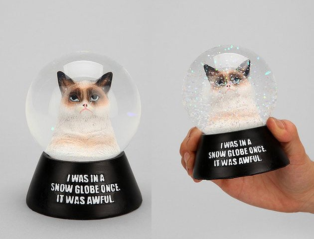 Please Don t Shake the Grumpy Cat Snow Globe – Chip Chick 46b6bb0542e2