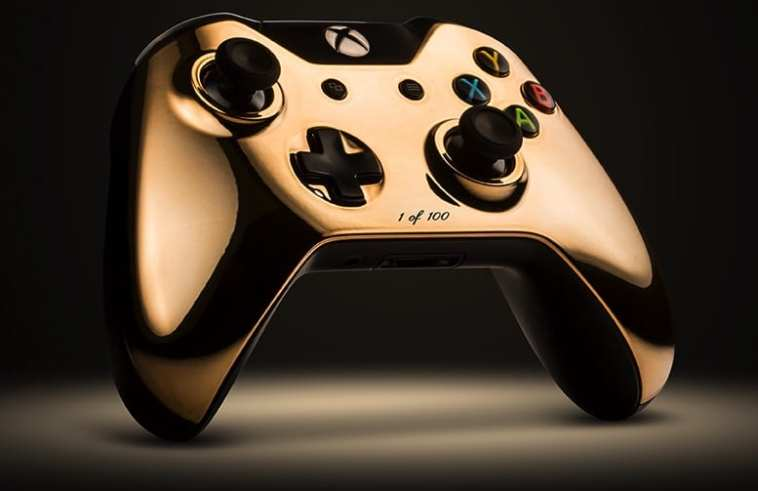 Xbox one controller is covered in 18 karat rose gold share on facebookshare on twitter ccuart Images