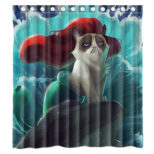 Great Grumpy Cat Shower Curtain
