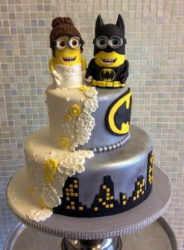 Batman-minions-wedding-cake