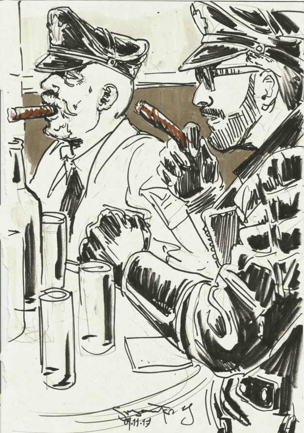 Berlin Cigar Men smokers by Suzanne Forbes Nov 4 2017